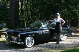 "Cruising around in a classic car with a classic outfit is the ultimate in ""retro."""