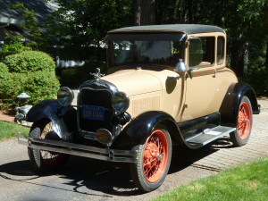 1928 was the first year for the Model A. After the waning of the Model T's success, Henry Ford produced a car with more a conventional drive train and body styles. Sales skyrocketed, with a million sold by February 1929.