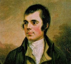 Robert Burns, Scotland's unofficial national poet.