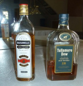 Bushmills and Tullamore Dew