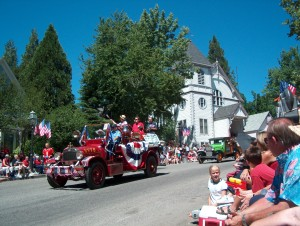 Grass Valley's antiques fire truck in Nevada City