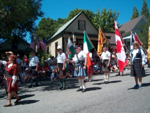 Gold Country Celtic Society Precision Marching Unit.  I'm in the white helmet.