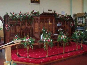 Manx Flower Festival display