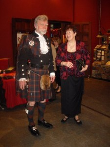 Kelly and I at the 2014 Robert Burns Supper