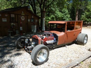 "Ever hear the song ""Bad to the Bone?"" That's T-Bone. Its '25 Buick headlights cast a big shadow."