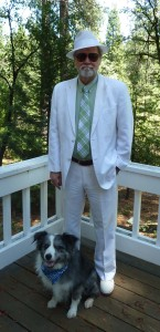 In my white suit with the late, great Jilly-dog.