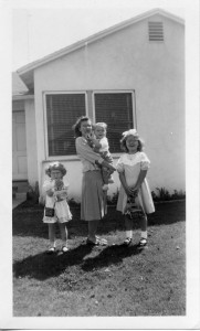Easter 1951 with my mom, sisters and me.  Hey, it's baby fat!!