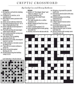 British Crossword Puzzle