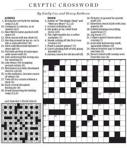 British Crossword Puzzle