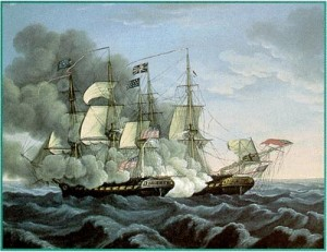 Old Ironsides in action