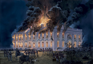 British burning the White House