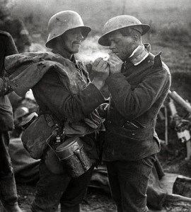 Sharing a Truce Cigarette