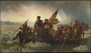 Washington Crossing the Delaware- He Well Might Have Been Standing in the Flat-Bottomed Boat