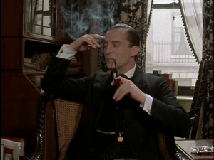 Sherlock Holmes in a three-pipe case