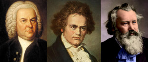 The Three B's Bach, Beethoven and Brahms