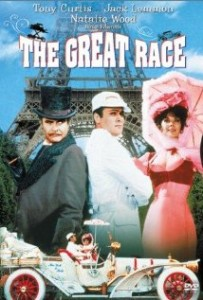 The Great Race starred Jack Lemmon as Professor Fat, Tony Curtis as the Great Leslie and Natalie Wood as Maggie DuBois
