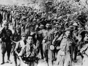Americans and Filipinos surrender at the fall of Corrigidor