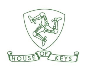 House of Keys Logo - Green on White