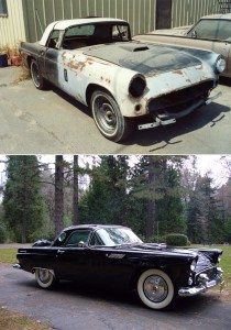 My 56 T-Bird: a lot of work and money to break even on the money.
