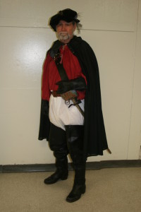 Me in my fantasy role as a Scottish soldier of fortune