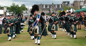 A Pipe Band at a Scottish Games