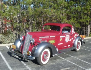 "'36 Packard 120B Coupe Race Car. Packard built their 120's on a 120"" wheelbase with 120 HP."